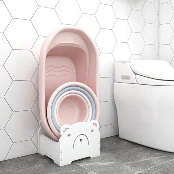 浴室置物架 衛生間置物架衛生間臉盆架洗手間洗漱臺廁所收納架子落地家用 1
