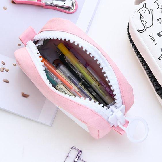 筆袋 筆筒創意可愛男女生小學生韓版簡約帆布大容量鉛筆袋拉鏈小清新文具袋初高中生鉛筆盒 3