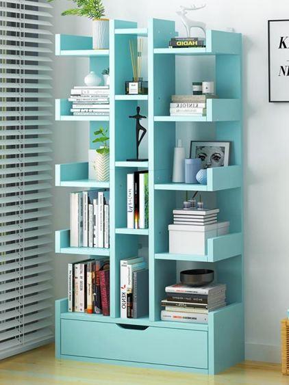 書架 落地置物架簡約現代省空間家用客廳收納架學生小書架簡易書柜【快速出貨】 0