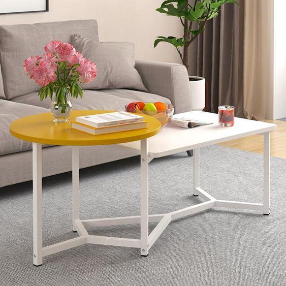 北歐茶幾創意迷你簡約現代小戶型矮桌子簡易客廳邊幾仿實木茶桌臺【快速出貨】 0