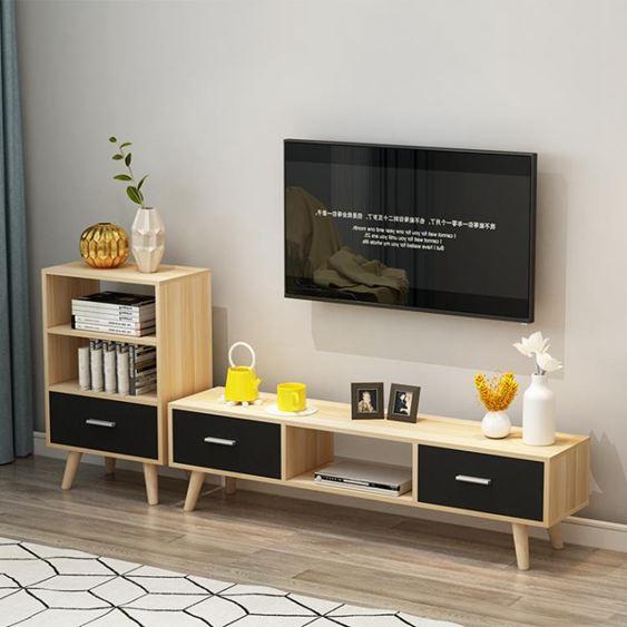 電視櫃 北歐電視櫃現代簡約 客廳組合茶幾電視櫃簡易家用小戶型 電視機櫃【快速出貨】 5