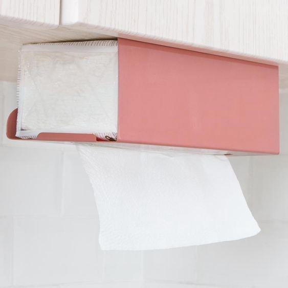紙巾盒 廚房紙巾架免打孔鐵藝用紙架家用餐巾紙 2