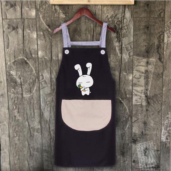 圍裙 家用廚房女韓版時尚防水防油成人可愛做飯罩衣工作服LOGO印字 1
