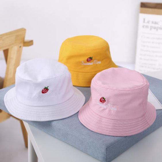 兒童帽 漁夫帽夏季薄款兒童盆帽子中大童太陽春秋夏天男女童防曬遮陽 2