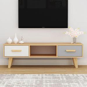 電視櫃 北歐電視櫃簡約現代客廳臥室小戶型電視櫃組合家具簡易電視機櫃【快速出貨】 3