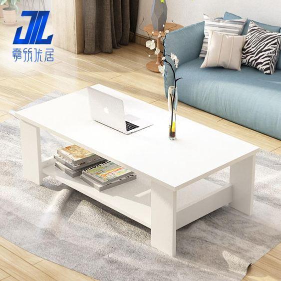 茶幾簡約現代客廳邊幾家具儲物簡易茶幾雙層木質小茶幾小戶型桌子【快速出貨】 2
