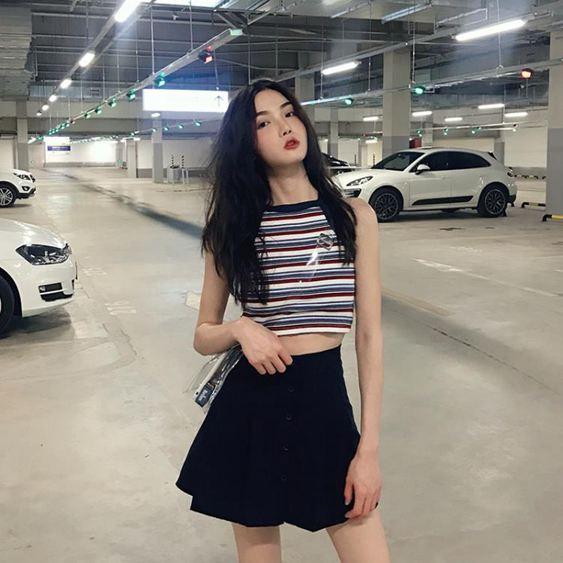 女士百褶裙夏顯瘦半身裙短裙百褶裙【快速出貨】 1
