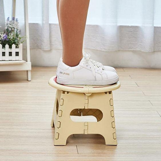 凳子 加厚折疊凳子卡通塑料便攜式矮凳戶外創意家用小板凳成人兒童 1