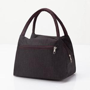 側背包 加厚防水牛津帆布便當包手提小花布包手拎小包飯盒袋女休閒包 2