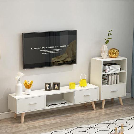 電視櫃 北歐電視櫃現代簡約 客廳組合茶幾電視櫃簡易家用小戶型 電視機櫃【快速出貨】 1