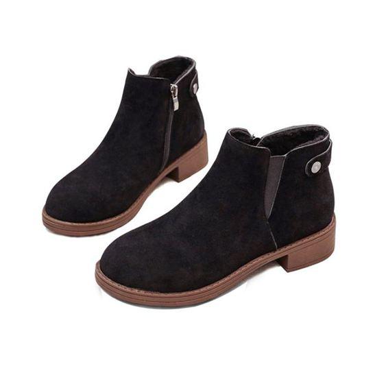 馬丁靴女秋冬季英倫風學生正韓百搭小短靴女靴子粗跟【快速出貨】 1