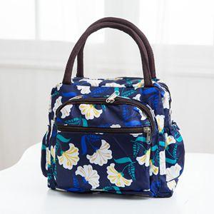 側背包 女包帆布手提包加厚防水便當包媽咪小布包牛津布手拎媽媽包午餐袋 2