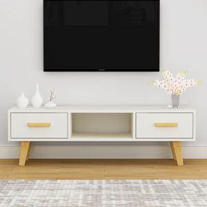 電視櫃 北歐電視櫃簡約現代客廳臥室小戶型電視櫃組合家具簡易電視機櫃【快速出貨】 2
