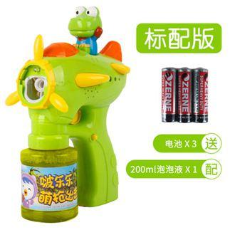 泡泡機 兒童泡泡機全自動不漏水玩具電動 吹泡泡槍泡泡水補充液 2