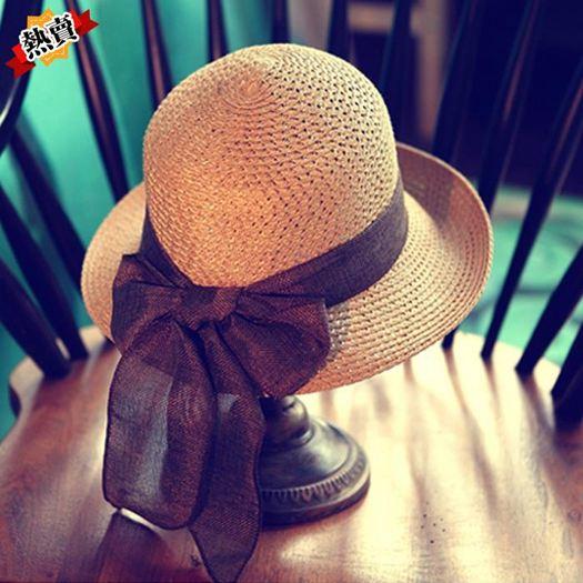 帽子 草帽女夏天防曬大檐百搭太陽帽遮陽韓版沙灘帽子女海邊禮帽潮折疊 3