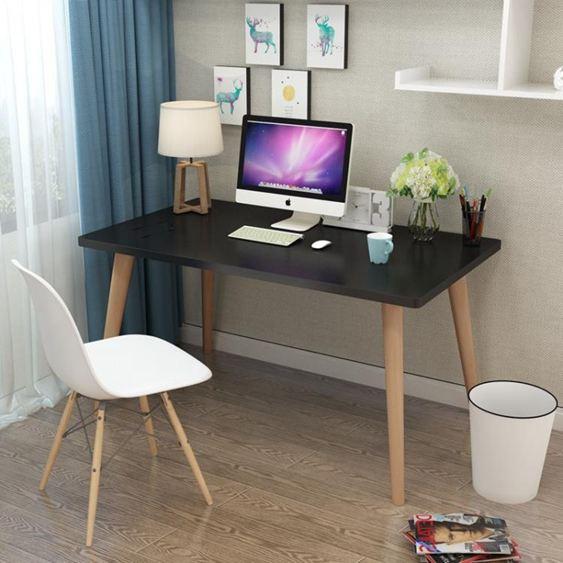 電腦桌 北歐電腦桌書桌簡易學習桌現代簡約寫字臺家用轉角兒童臺式寫字桌【快速出貨】 3