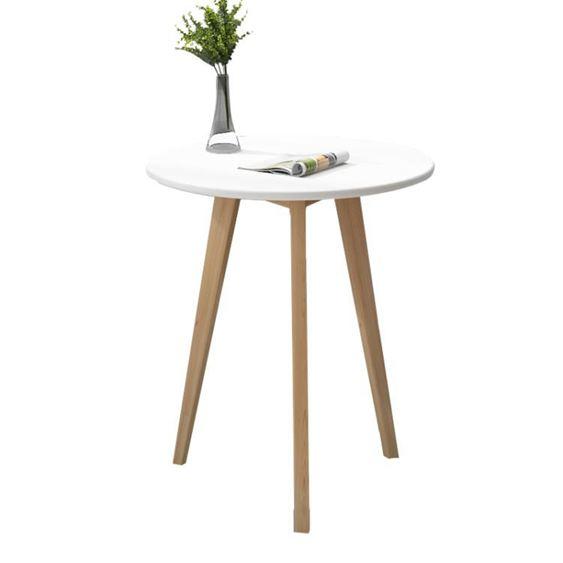 北歐小圓桌簡約迷你臥室現代家用小茶幾實木創意休閒洽談小桌子【快速出貨】 3