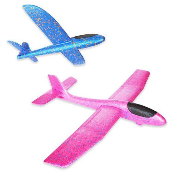 戶外玩具 樂爾思手拋飛機泡沫戶外飛碟回旋模型拼裝航模滑翔機飛盤兒童玩具 2