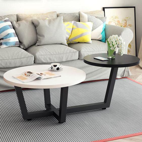 北歐茶幾圓形客廳簡約現代小戶型迷你小桌子客廳創意圓桌簡易茶幾【快速出貨】 1