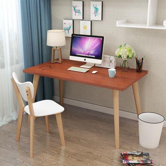 電腦桌 北歐電腦桌書桌簡易學習桌現代簡約寫字臺家用轉角兒童臺式寫字桌【快速出貨】 2
