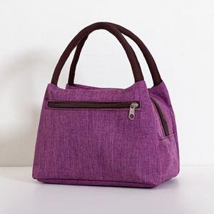 側背包 加厚防水牛津帆布便當包手提小花布包手拎小包飯盒袋女休閒包 0
