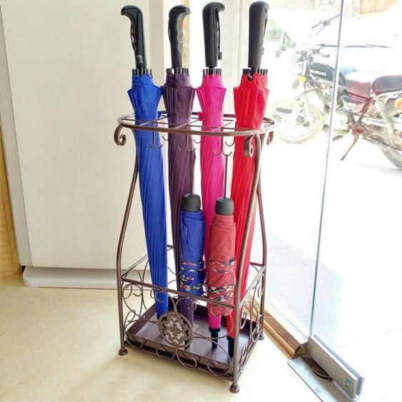 傘架 雨傘架酒店 大堂家用鐵藝傘筒雨傘桶收納桶落地式放折疊傘架子 0