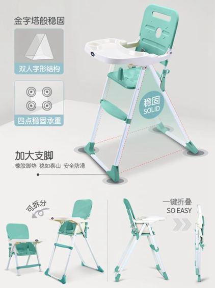兒童餐椅 寶寶餐椅可折疊便攜式兒童多功能寶寶吃飯座椅幼兒餐桌椅椅子 3
