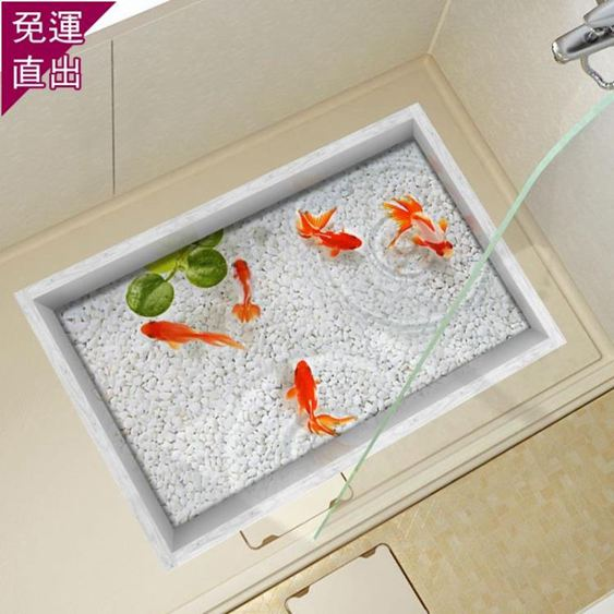 窗貼3D墻貼立體客廳創意地板貼畫洗手間浴室防水耐磨地磚貼防滑地貼墊【快速出貨】 0