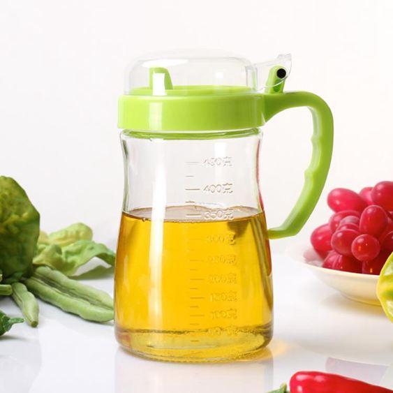 油壺 玻璃防漏家用油瓶醋壺醬油罐廚房600ML 大號 0