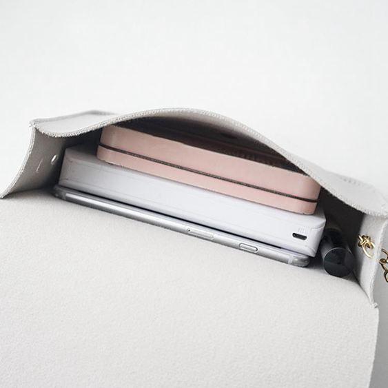鍊條包 斜背包包包女新品時尚百搭鍊條斜挎手機零錢散步小方包潮【快速出貨】 3