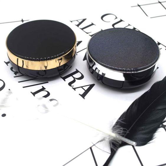 diy氣墊盒 經典黑色星辰米老鼠氣墊空盒子氣墊空殼替換芯 自制diy粉撲氣墊盒【快速出貨】 0
