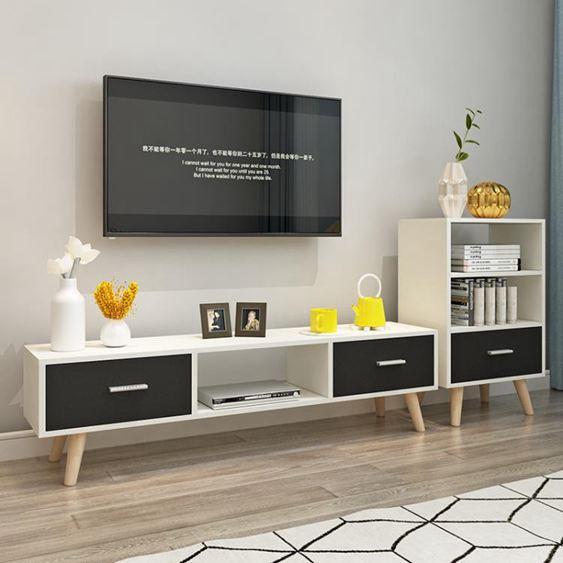 電視櫃 北歐電視櫃現代簡約 客廳組合茶幾電視櫃簡易家用小戶型 電視機櫃【快速出貨】 3