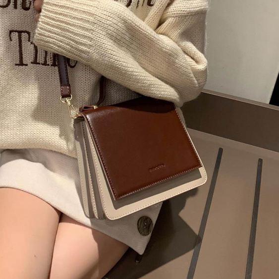 女士背包高級感小包包女包2019手提斜挎包百搭洋氣質感小黑包【快速出貨】 0