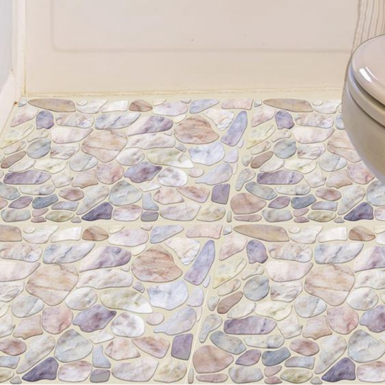 3D立體創意衛生間浴室地板地面瓷磚貼紙貼畫地貼自粘墻貼防水耐磨 1