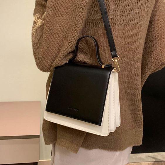 女士背包高級感小包包女包2019手提斜挎包百搭洋氣質感小黑包【快速出貨】 2