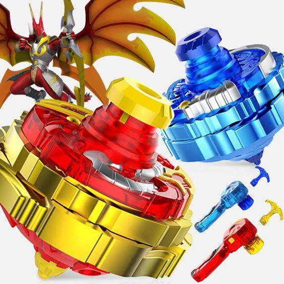 戰國陀螺 超變戰陀兒童陀螺玩具二星升級版拉線旋轉三星戰斗盤魔幻【快速出貨】 1