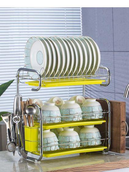 廚房置物架 用品用具晾洗放瀝水碗架碗柜碗碟碗筷盤刀收納盒餐具架 3