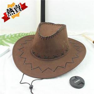 帽子 釣魚騎車男士牛仔帽度假夏沙灘大沿帽子女太陽防曬帽子男遮陽草帽 2