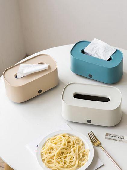 紙巾盒 北歐ins客廳茶幾抽紙盒簡約家用餐廳創意可愛飯店餐巾紙盒 1