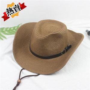 帽子 釣魚騎車男士牛仔帽度假夏沙灘大沿帽子女太陽防曬帽子男遮陽草帽 1