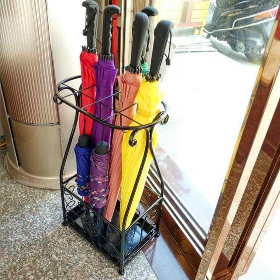 傘架 雨傘架酒店 大堂家用鐵藝傘筒雨傘桶收納桶落地式放折疊傘架子 2