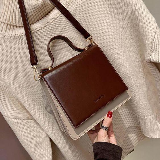 女士背包高級感小包包女包2019手提斜挎包百搭洋氣質感小黑包【快速出貨】 1