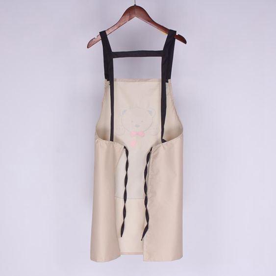 圍裙 家用廚房女韓版時尚防水防油成人可愛做飯罩衣工作服LOGO印字 3