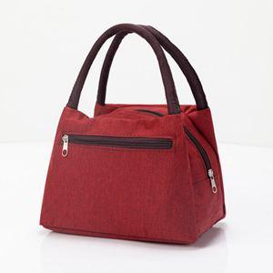 側背包 加厚防水牛津帆布便當包手提小花布包手拎小包飯盒袋女休閒包 1