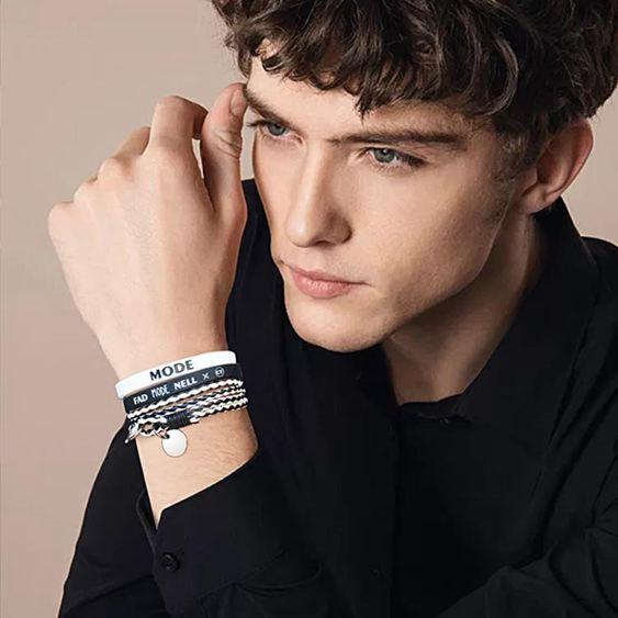 手環 日韓版潮人學生青少年簡約個性手腕時尚刻字手繩硅膠手環 1