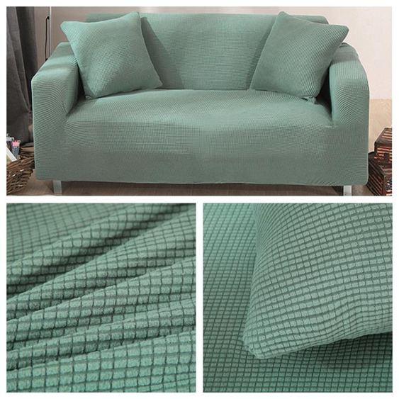彈力加厚萬能沙發套全包布套沙發罩全蓋翻新布藝北歐簡約純色 【快速出貨】 2