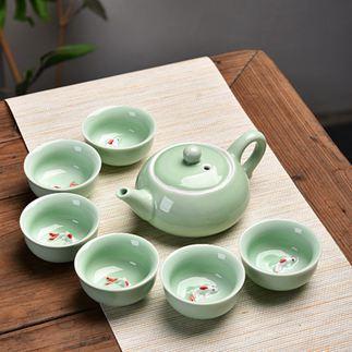 茶具 陶瓷茶具套裝功夫茶具整套茶具冰裂茶杯茶壺茶道茶盤泡茶套裝家用 3