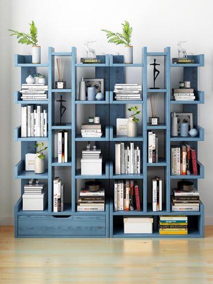 書架 落地置物架簡約現代省空間家用客廳收納架學生小書架簡易書柜【快速出貨】 1