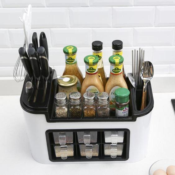 廚房置物架 廚房用品儲物置物架落地調味品調味料調料收納盒櫥柜灶臺收納神器 3