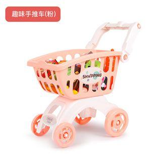 過家家 兒童購物車玩具女孩 超市小手推車過家家寶寶迷你廚房套裝 0
